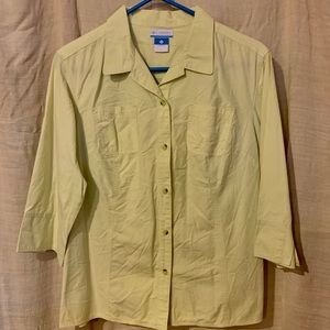 Columbia 3/4 sleeve women's button down top